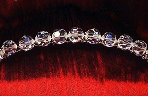 Simple Glamour 8mm Swarovski Crystal Comb/Tiara in over 30 colors!