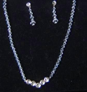 Clear Elegance Crystal Necklace & Earring Set -one of our Creations!