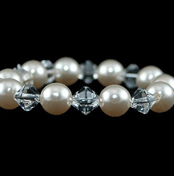 Simplicity Crystal & Pearl Bracelet in your choice of over 30 colors