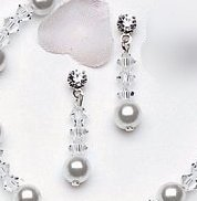 Grace Crystal and Pearl Drop Earring