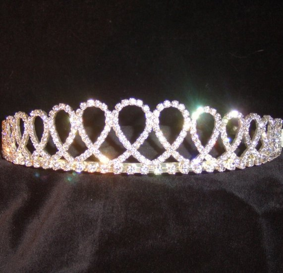 Laila Looped Clear Crystal Tiara