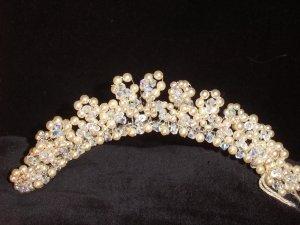 Caelyn Swarovski Pearl & Crystal Comb style Tiara by Kristina Eaton