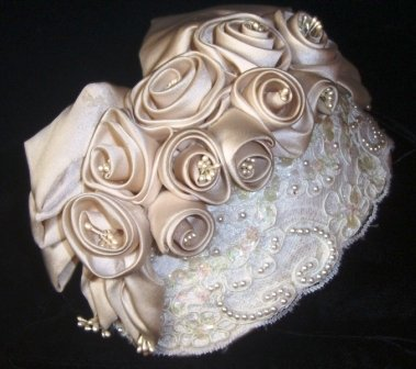 Champagne & Roses Juliette Cap style Fabric Fascinator
