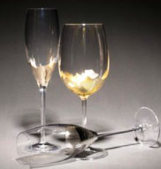 Set of 2 T Davlin Designs Champagne Toasting Goblets in Platinum or 24kt Gold