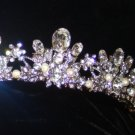 Ora Tiara with Large Oval Swarovski Crystals set in an intricate Rhodium open tiara band