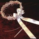 Custom Designed Satin Ribbon and Roses Flowergirl Wreath