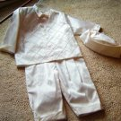 Dupioni Silk Christening suit by Cora