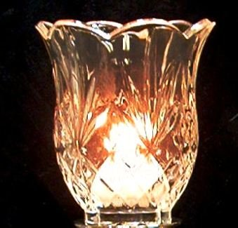 Specially Priced St. George Crystal Tall Scallop Cut Crystal Votive