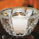 Crystal Drape Candle Bowl by 5th Avenue Crystal