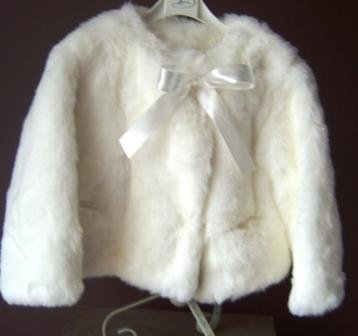 Custom Made Faux Fur Short Coat in Girl's Sizes in your choice of colors.