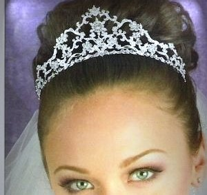 Daria's Dramatic Crystal Crown in Silver with Crystals