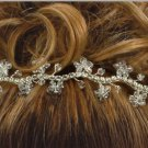 Farah's Flower flexible Hair Jewelry in Clear Swarovski Crystal
