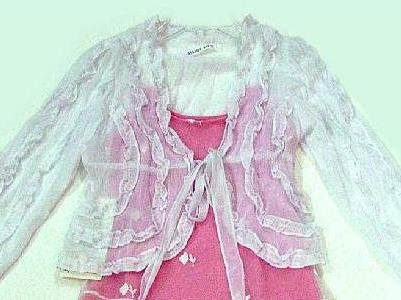 "My Sister Sam ""Dream Baby"" White Ruffled Jacket-Specially Priced!"