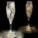Victorian Bride & Rennaissance Groom Toasting Goblet Set