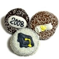 1 Dozen Graduation Theme Chocolate Dipped Oreos, Individually wrapped.