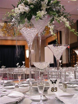 The Monster XL Martini Glass Centerpiece