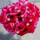Set of 6 Solitaire Brilliant cut Bouquet Crystals