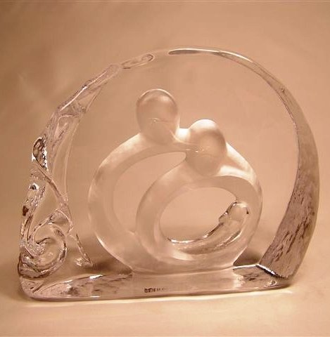 "Enesco Circle of Life ""New Life"" Glass Sculpture"