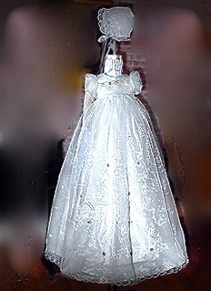 Custom Baptism & Christening Ensembles made from your wedding gown.