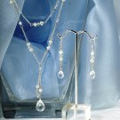 Swarovski Crystal & Freshwater Pearl Double Drop Jewelry Set