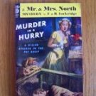 Murder in a Hurry - F. & R. Lockridge 1950 Mr. And Mrs. North pb
