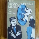 The Transcendental Murder HB DJ 1st 1964 Jane Langton