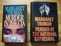 Lot of 2 by Margaret Truman 1st Edition HB DJ  Murder at CIA & National Cathedral