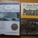 Lot of 2 tpb by E. Annie Proulx The Shipping News (Pulitzer Prize winner!)  & Postcards