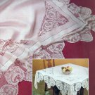 CROCHET PATTERN ONLY Tablecloth Edging Napkins 13 DIY