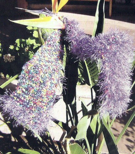 Knitting Pattern For Fun Fur Scarf : HOW TO Knitting Pattern Knit Faux Fun Fur Scarf Soft ...