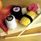 HOW TO Knitting Pattern Knit Sushi Toy Foodie Gift 9106
