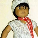How To CROCHET PATTERN 18 Inch Doll Vest Clothes 323