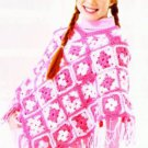 CROCHET PATTERN ONLY Girls Wrap Shawl Poncho Cape Capelet Coat Pashmina 508 GIFT