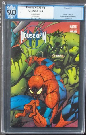 HOUSE OF M #1 CGC 9.0 VF/NM