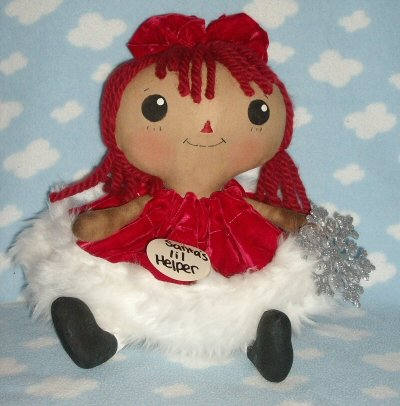 Santas lil helper Raggedy dollie