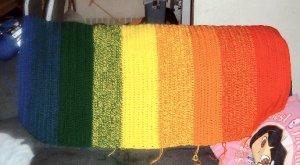 Shaded Rainbow Afghan (full size)