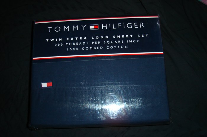 Tommy Hilfiger Navy Classic Twin XL Extra Long Sheet Set Dorm Beddking