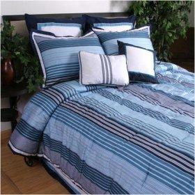 Nautica Waterside Twin Duvet Set Twin XL Sheet Set Dorm Bedding Turquoise Stripe