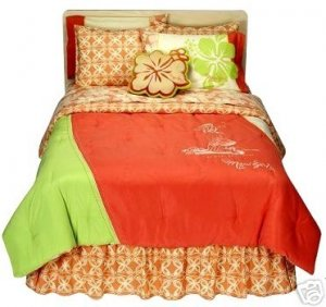 Maui Girl Hula Nalu Twin Comforter Sham Set 2 Piece