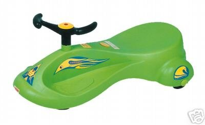 SWING CARS - NON-ELECTRIC RIDE-ON TOY KID Green