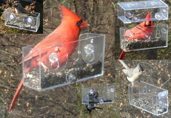 BEST VALUE! 6-PACK OF BAKER WINDOW BIRD FEEDERS THIS BIRD FEEDER IS AN AWESOME GIFT FOR MOM & DAD!