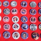 21 PACK OF 2008 PRESIDENTIAL CAMPAIGN BUTTONS SENATOR JOHN McCAIN BARACK OBAMA HILLARY CLINTON