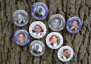 HISTORIC OBAMA BUTTONS BARACK OBAMA FOR PRESIDENT 7-PACK 2008 Buttons Pins Pinbacks