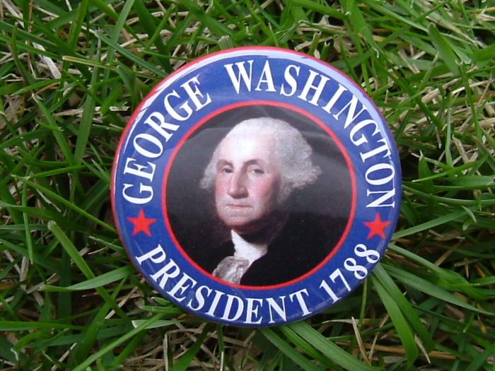 7-PACK OF BUTTONS CREATED IN HONOR OF PRESIDENT GEORGE WASHINGTON OUR 1ST PRESIDENT