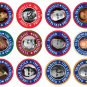 BUTTONS PINS PINBACKS OF 12 UNITED STATES PRESIDENTS FROM GEORGE WASHINGTON T0 BARACK OBAMA