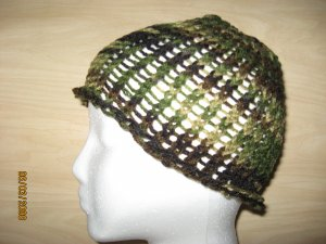 Green Camo skully knit hat