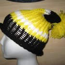 Pittsburgh Pride rollup knit hat with pom-pom