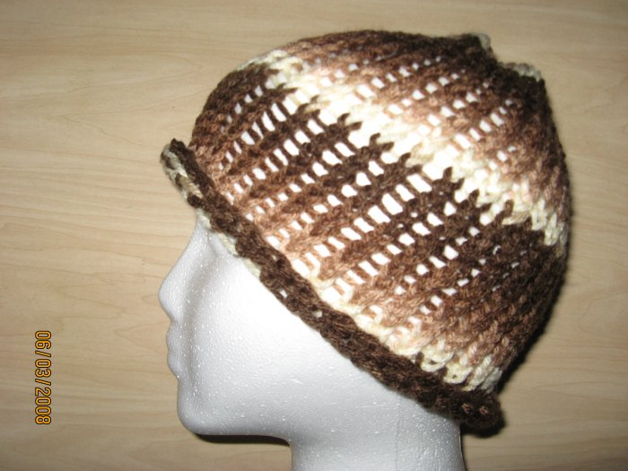 Brown Waves skullcap