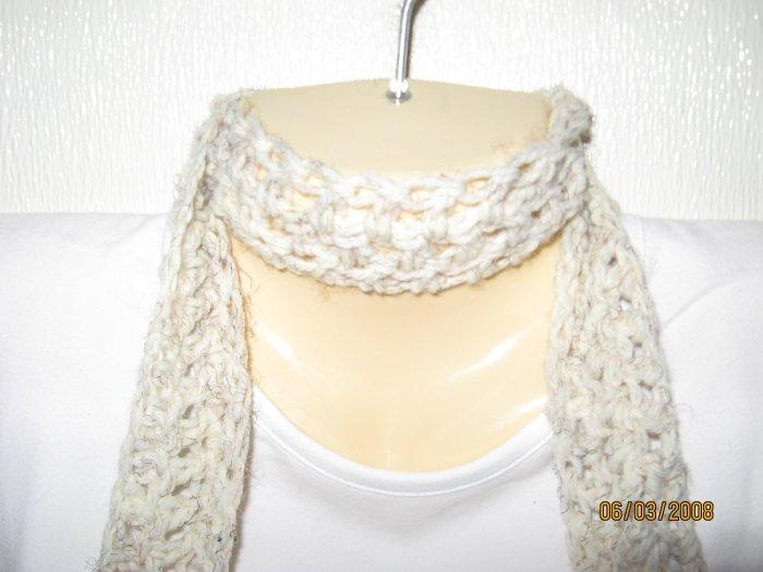 Cream & More crocheted scarf