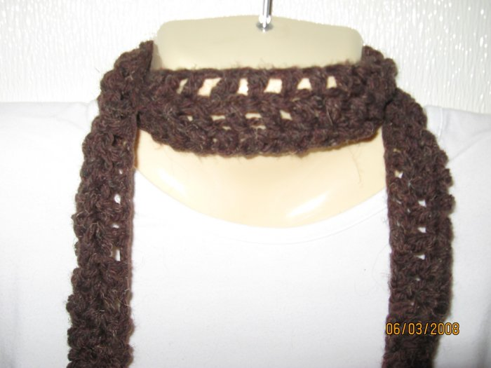Brown & More crocheted scarf